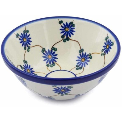 "Polish Pottery Bowl 5"" Aster Trellis"