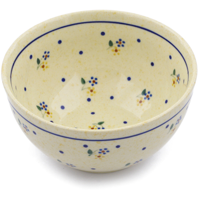 "Polish Pottery Bowl 5"" Country Meadow"