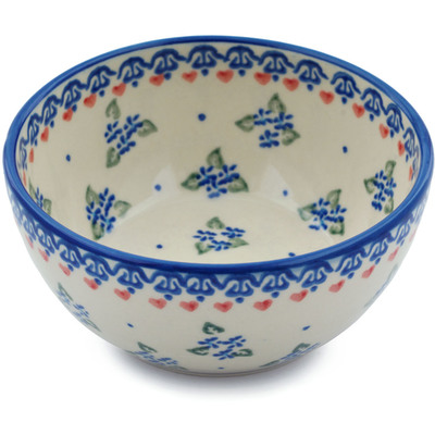 "Polish Pottery Bowl 5"" Daisy Dollops"