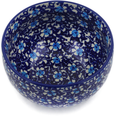 "Polish Pottery Bowl 5"" Flowers On The Lake"