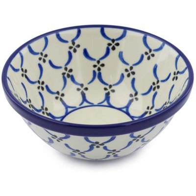"Polish Pottery Bowl 5"" Garden Lattice"