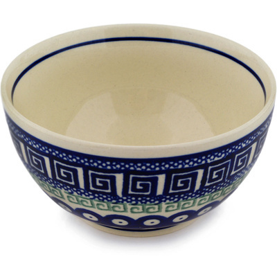"Polish Pottery Bowl 5"" Grecian Peacock"