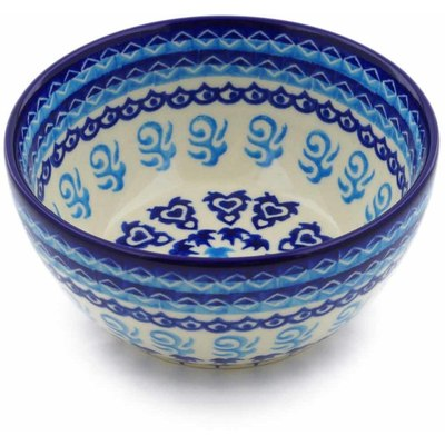 "Polish Pottery Bowl 5"" Love Circle"