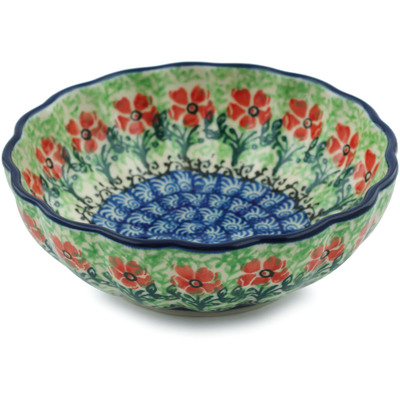 "Polish Pottery Bowl 5"" Maraschino"