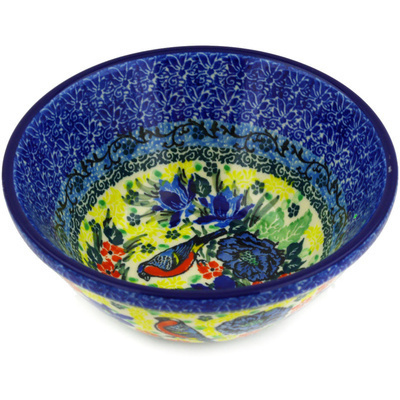 "Polish Pottery Bowl 5"" Morning Song UNIKAT"