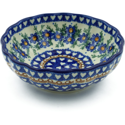 "Polish Pottery Bowl 5"" Mother's Love UNIKAT"