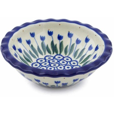 "Polish Pottery Bowl 5"" Water Tulip"