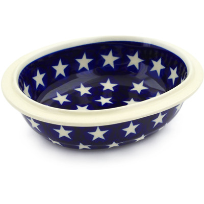 "Polish Pottery Bowl 6"" America The Beautiful"