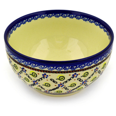 "Polish Pottery Bowl 6"" Confetti"