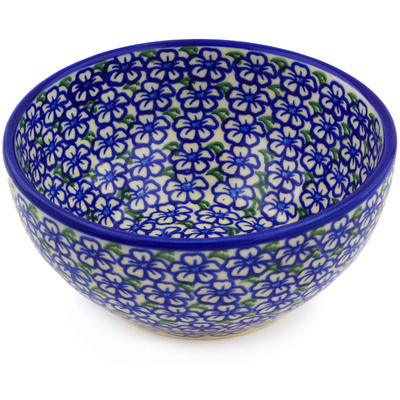 "Polish Pottery Bowl 6"" Fields Of Glory"