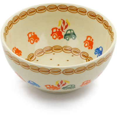 "Polish Pottery Bowl 6"" Go Car"