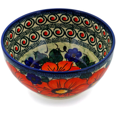"Polish Pottery Bowl 6"" Havana UNIKAT"