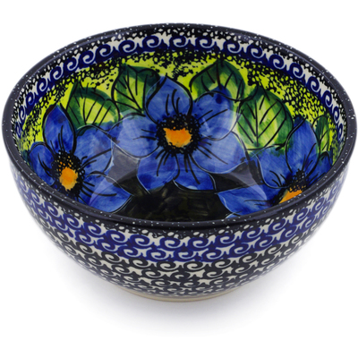 "Polish Pottery Bowl 6"" Midnight Glow UNIKAT"