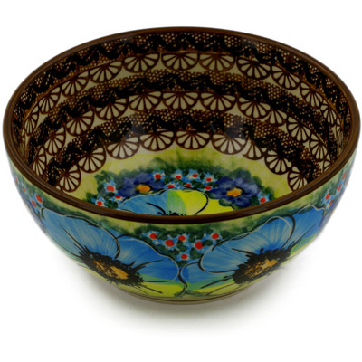 "Polish Pottery Bowl 6"" Sweet Emotions UNIKAT"
