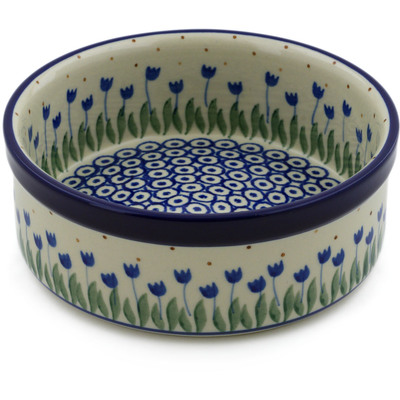 "Polish Pottery Bowl 6"" Water Tulip"