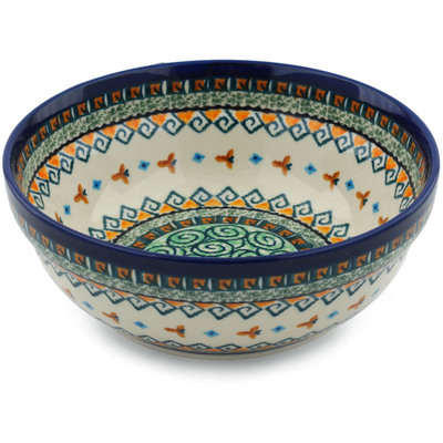 "Polish Pottery Bowl 7"" Albuquerque UNIKAT"