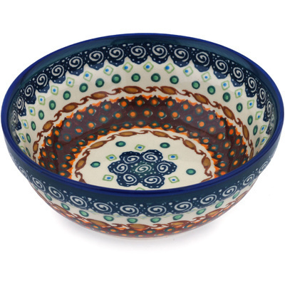 "Polish Pottery Bowl 7"" Artichoke Heart UNIKAT"