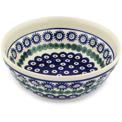 "Polish Pottery Bowl 7"" Astrid Peacock"