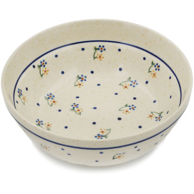 "Polish Pottery Bowl 7"" Country Meadow"