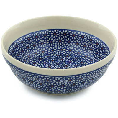 "Polish Pottery Bowl 7"" Daisy Dreams"