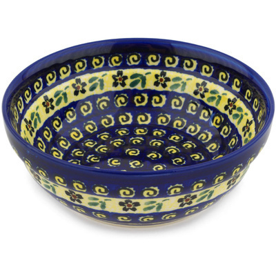"Polish Pottery Bowl 7"" Stargazer Fields"