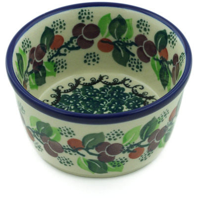 Polish Pottery Bowl Small Berry Garland