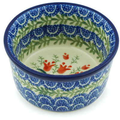 Polish Pottery Bowl Small Crimson Bells