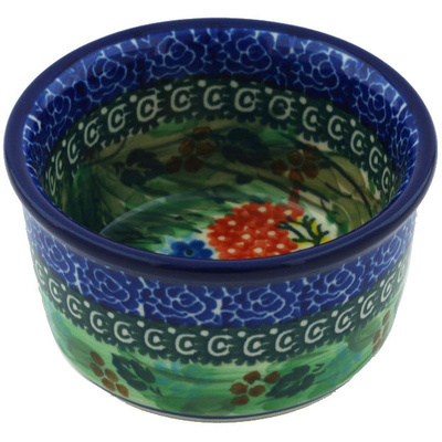 Polish Pottery Bowl Small Garden Delight UNIKAT