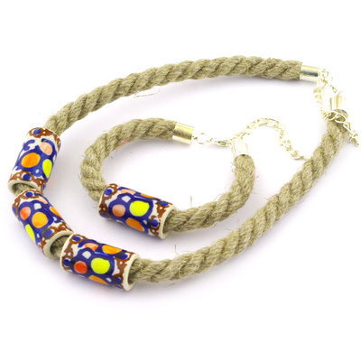 Polish Pottery Bracelet and Necklace Combo 20""