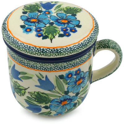 Polish Pottery Brewing Mug 12 oz Evangeline UNIKAT