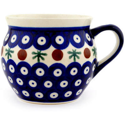 Polish Pottery Bubble Mug 11 oz Mosquito