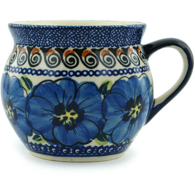 Polish Pottery Bubble Mug 11 oz Regal Bouquet UNIKAT
