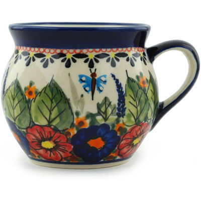 Polish Pottery Bubble Mug 11 oz Spring Splendor UNIKAT