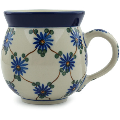 Polish Pottery Bubble Mug 12 oz Aster Trellis