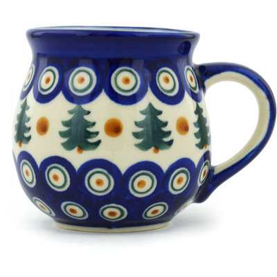 Polish Pottery Bubble Mug 12 oz Autumn Evergreen