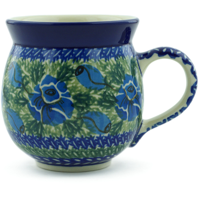 Polish Pottery Bubble Mug 12 oz Daffodil Dreams UNIKAT