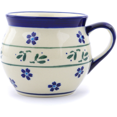 Polish Pottery Bubble Mug 12 oz Daisy Field