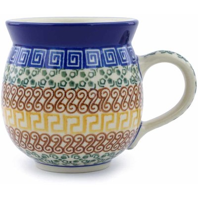 Polish Pottery Bubble Mug 12 oz Grecian Sea