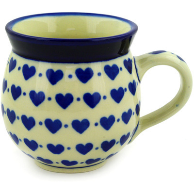Polish Pottery Bubble Mug 12 oz Hearts Delight
