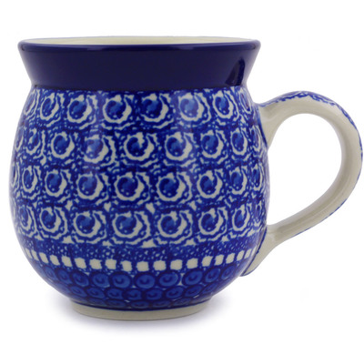 Polish Pottery Bubble Mug 12 oz High Tide