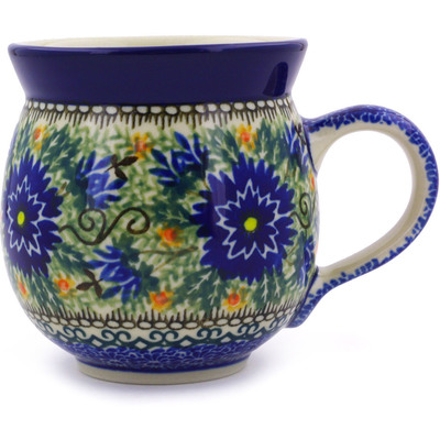 Polish Pottery Bubble Mug 12 oz Intrepid Dahlia UNIKAT