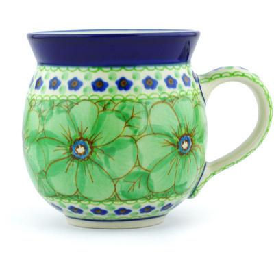 Polish Pottery Bubble Mug 12 oz Key Lime Dreams UNIKAT