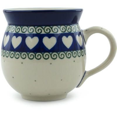 Polish Pottery Bubble Mug 12 oz Light Hearted