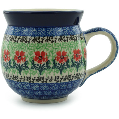Polish Pottery Bubble Mug 12 oz Maraschino