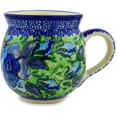 Polish Pottery Bubble Mug 12 oz Matisse Flowers UNIKAT