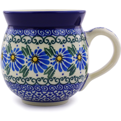 Polish Pottery Bubble Mug 12 oz Morning Daisy