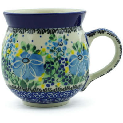 Polish Pottery Bubble Mug 12 oz Morning Glory UNIKAT