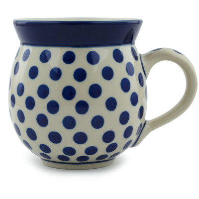 Polish Pottery Bubble Mug 12 oz Polka Dot Delight