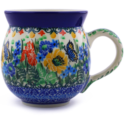 Polish Pottery Bubble Mug 12 oz Sipping Nectar UNIKAT