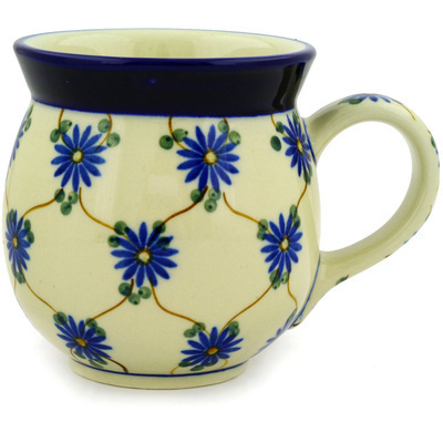 Polish Pottery Bubble Mug 16 oz Aster Trellis